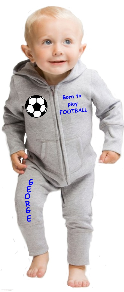 79bf64f6a Personalised Football Baby Onesie - The Bees Tees
