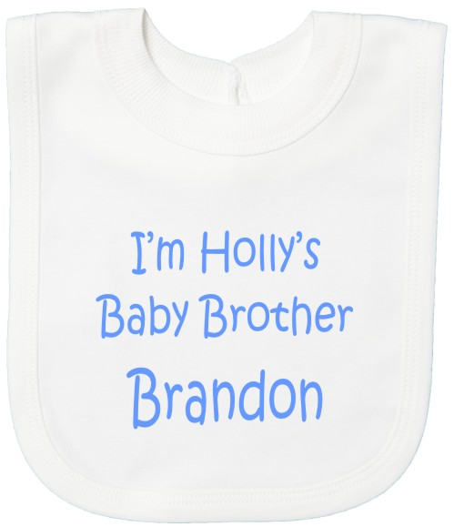 Baby Brother Bib Personalised With Names