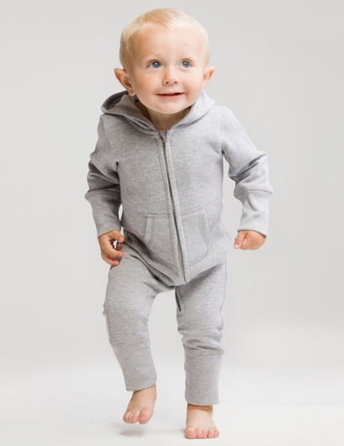 Lovely Babybugz supersoft Baby All in One or Onesie. Sizes 6-12 months, 12-18 months, 18-24 months and 2-3 years. Available in washed Grey Melange or Black.