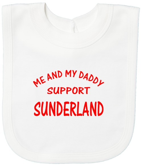 Me and my Daddy Support Sunderland Baby's Bib