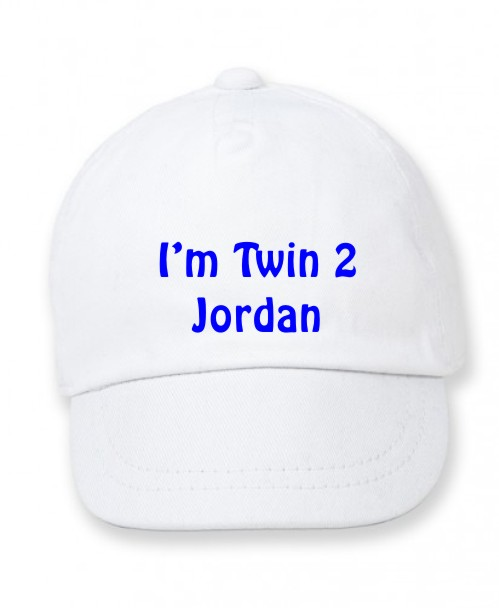 6c16991990273 Personalised Baby   Infant Twin 2 Baseball Cap - The Bees Tees