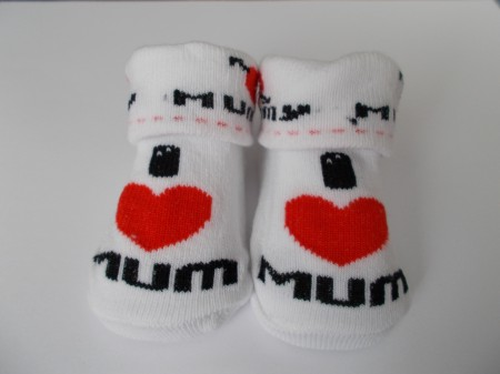 Mummy Baby Socks I love MUM