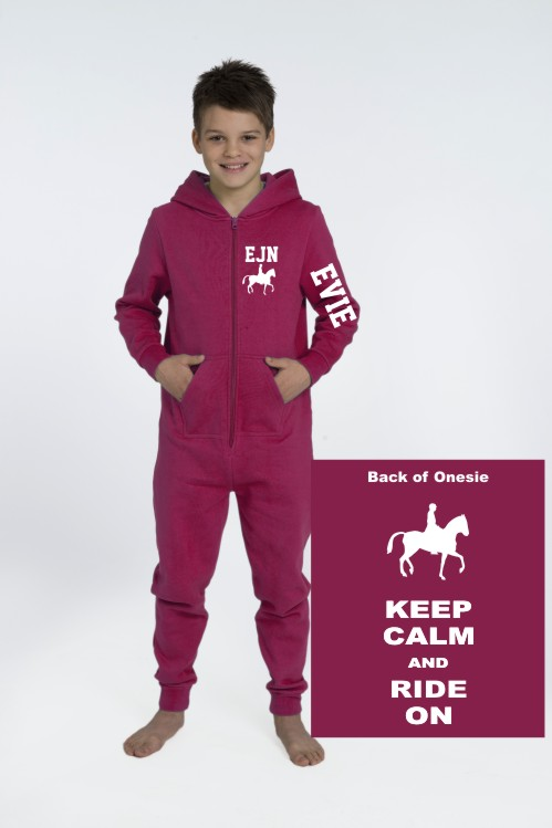 Keep calm and ride on onesie