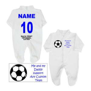 Daddy Support Football Babygrows