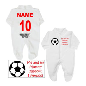 Mummy Support Football Babygrows