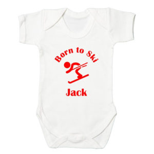 Winter Sports Baby Bodysuits