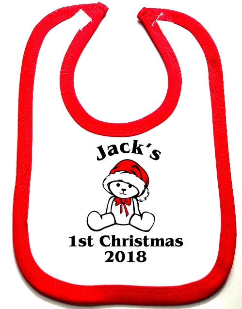 This is a great keepsake for baby's first Christmas printed with 1st Christmas, the year and can be personalised with baby's name to make it extra special.